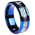 8mm Tungsten Carbide Ring Silvering C...