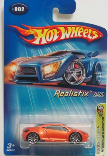 Mattel Hot Wheels 2005 1:64 Scale Metallic Orange Mitsubishi Eclipse Concept 2/20 Die Cast Car #002 - 1