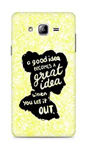 AMEZ a good idea becomes a great idea when you let it out Back Cover For Samsung Galaxy ON7