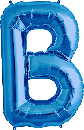 Letter B - Blue Helium Foil Balloon - 34 inch