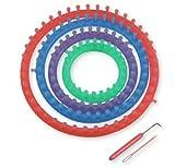 Artikelvorschlag zum Loop Schal Stricken: Hoooked-Zpagetti - Strickringset von Marianne-Hobby (4 Stück)