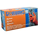 Ammex GWON Gloveworks Orange Nitrile Glove, Latex Free, Disposable, Powder Free, Medium (Case of 1000)