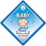 Baby On Board Car Sign Baby on Board Car Sign Blue Baby Baby Car Sign Bumper Sticker Decal Grandchild On Board Child On Board Baby Boy On Board Bumper sticker Baby Car Sign Decal
