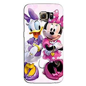 GIRL AND DUCK CARTOON BACK COVER FOR SAMSUNG GALAXY S6