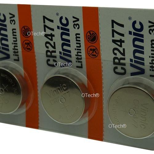 Pack de 5 Vinnic CR2477 3V Lithium