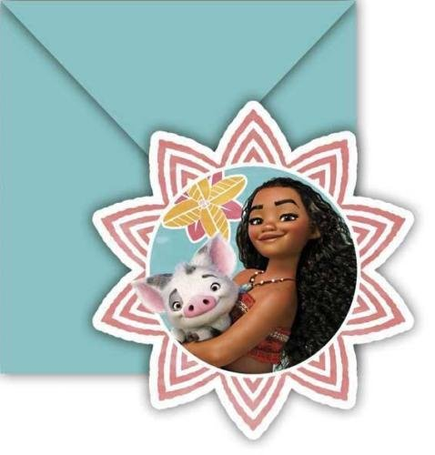 Moana Birthday Party Invitations