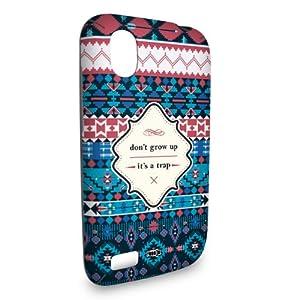 Handyschale Handycase für HTC Desire X veredelt mit YOUNiiK Styling Skin - The Trap