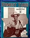 img - for Ernest Tubb Folio of Recorded Hits- Number 4 book / textbook / text book