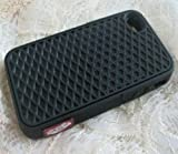 iPhone 5 Silicone Rubber Sole Vans BLACK with Black Side Waffle Case Cover for iPhone 5