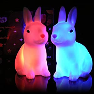 Rabbit LED Night Light Colour Changing from Carousel Toys