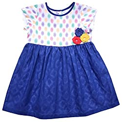 Campana Girls' Dress (CK1263_Royal Blue_18-24 Months)