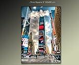 **60x90cm Quadri su tela modello (times-square-3-60x90cm) Fotografia formato XXL – Stampa su tela –  Quadro x poltrone salotto cucina bagno mobili ufficio casa I quadri sono montati su telai di vero legno.
