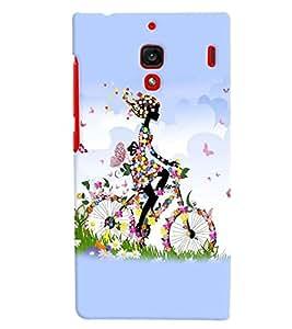 printtech Butterfly girl Back Case Cover for Xiaomi Redmi 1S::Xiaomi Redmi (1st Gen)