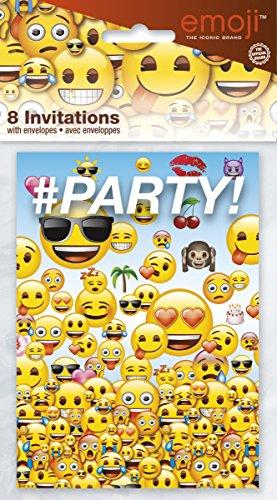 Unique Party 50614Emoji Fiesta Invitaciones (8unidades)