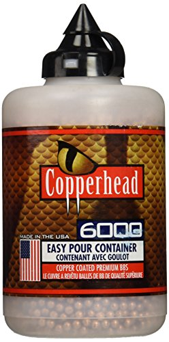 Crosman Copperhead 6000 Copper Coated BBs Cal. 4.5mm in a Bottle (Bulk Gun Targets compare prices)