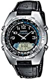 Casio AMW-700B-1AVEF Men's Analog and Digital Quartz Multifunction Watch with Leather Strap