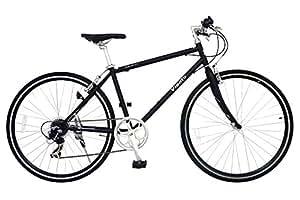 ANIMATO(アニマート) クロスバイク VIENTO(ヴィエント) 700C マットブラック【SHIMANO7段変速】