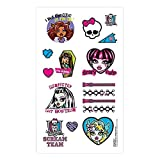"""Freaky Fab Monster High Birthday Party Temporary Tattoos Favour (16 Pack), Multi Color, 2"""" x 1 3/4""""."""