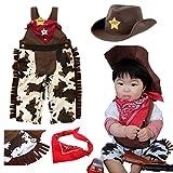 ベビー0歳1歳カウボーイ衣装ハロウィン<帽子&つなぎパンツ&スカーフコーディネート>(80cmタグ(実質70-75cm)[並行輸入品]