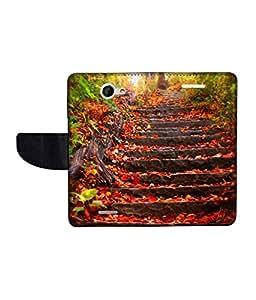 KolorEdge Printed Flip Cover For HTC Desire 516 -Multicolor (50KeMLogo10994HTC516)
