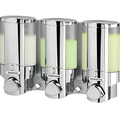 Better Living Products AVIVA Three Chamber Dispenser, Chrome