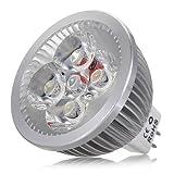 KingSo 10 Pack 4W MR16 4 LED Bulbs Pure White 6500K Energy Saving Light Bulb Perfect as LED Spotlight or Downlights