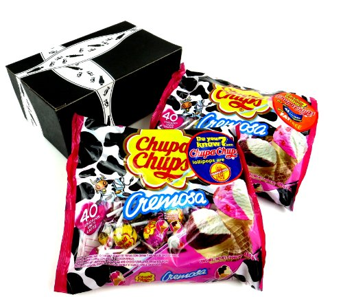 Chupa Chups Cremosa Ice-Cream Lollipops, 16.93 Oz Bags In A Gift Box (Pack Of 2) front-972970
