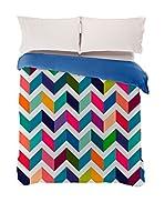 Manterol Juego De Funda Nórdica Zigzag (Multicolor)