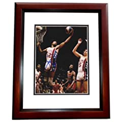 Julius Dr. J Erving Autographed Hand Signed New Jersey Nets 8x10 Photo MAHOGANY...