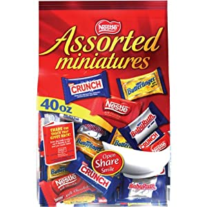 Nestle Assorted Miniatures Bag, 40-Ounce