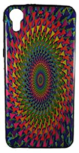 Toppings Designer Soft Printed Cover For HTC Desire 628