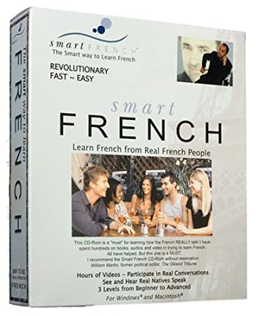 SmartFrench CD-rom: Learn French From Real French People (Windows 7/Vista/XP, Mac OSX)