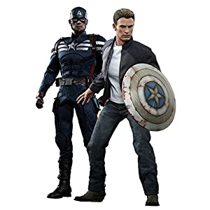 Hot Toys 1:6 Captain America and Steve Rogers Figure Set