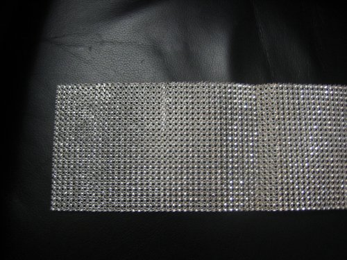Brand New 2 feet silver rhinestone wrap bridal flower bouquet handle