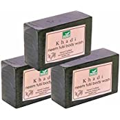 Khadi Mauri Neem-Tulsi Soap Pack Of 3 Herbal Ayurvedic Handcrafted Natural Neem Tulsi Soaps