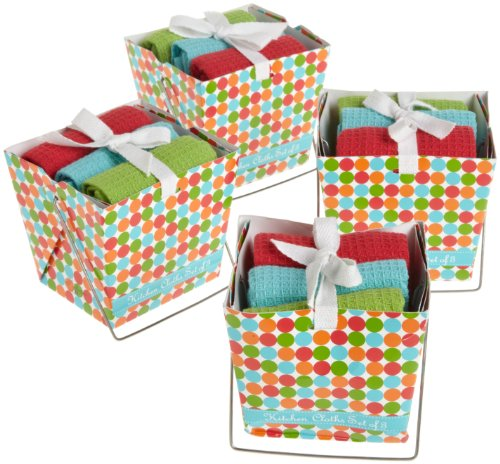 DII 4-Pack Takeout Gift Box Set, Juicy Dots Print