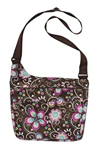Bliss Living Home Bliss Brown Flower Tablet Messenger Bag at Sears.com
