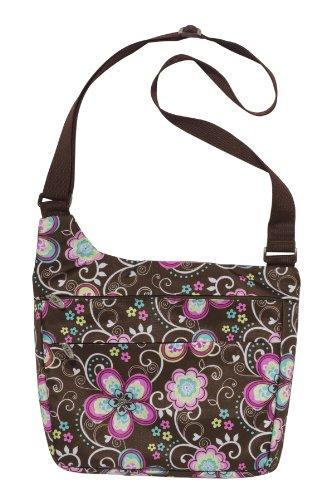 Bliss Brown Flower Tablet Messenger Bag