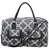 Geometric Clover Pattern Print Gym Dance Cheer Duffle Travel Overnight Bag