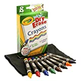 Crayola Large Dry Erase Crayons, 8 count (98-5200)