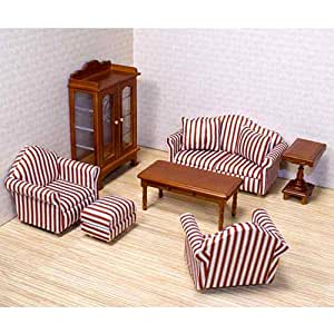Melissa Doug Deluxe Doll House Furniture