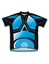 Blue Trace Short Sleeve Cycling Jersey for Women