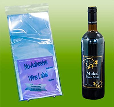 No Adhesive Wine Label Sleeves