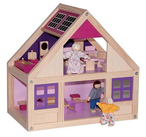 Chalet Puppenhaus Plantoys Holz Puppenstube ~ 12 Puppenhaus Miniaturen Holz Rund Kaffee Tabelle