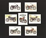 Classic Kawasaki Motorcycles - Z650, Z1, H2 750 Mach 4, H1 500 Mach 3, A7 350 Avenger, W1 650 - Collectors Cards