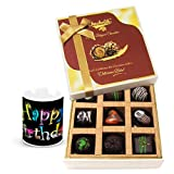 Delicious Assortment Of Dark Chocolate Treats With Birthday Mug - Chocholik Luxury Chocolates