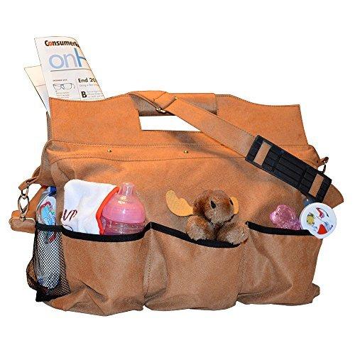 Mens Robusto Diaper Bag - Uomini e mamme Apprezzerete il grande scompartimento principale e le 7 scomparti esterni Hold Tutto per bambini e bambine. Queste borse per pannolini sono molto facili da pulire.