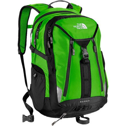 The North Face Surge Glo Green/TNF Black - The North Face Laptop Backpacks
