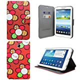 Sleek Gadgets® - Brown Hawaiian Floral Flower Case Cover for Samsung Galaxy Tab 3 7.0 P3210 SM-T210