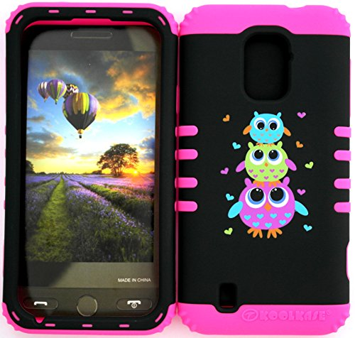Wireless Fones Tm Zte Majesty Z796C Zte Source N9511 Tuff Impact Hybird Cover Case Cute Owls Owl On Pink Silicone Skin front-597707